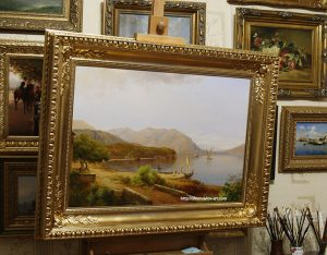 Копия картины «Motif near San Felice on Lake Garda» Louis Gurlitt